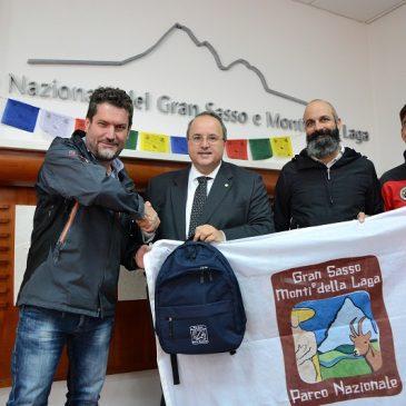 Davide Peluzzi nominato Ambasciatore nel Mondo del Parco del Gran Sasso e Monti della Laga